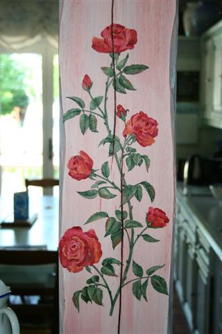 pochoir en 3D roses
