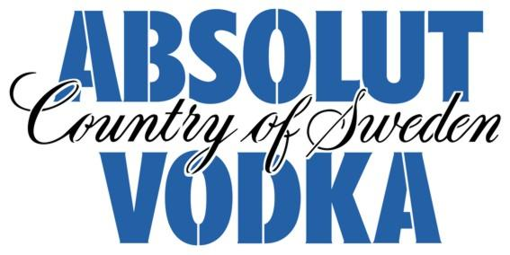Absolut vodka pochoir logoa peindre d12125