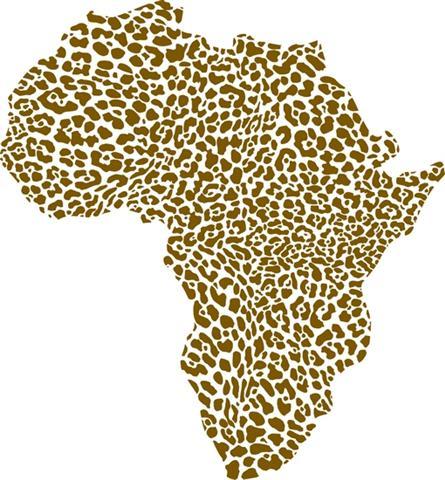 Afri40789 pochoir carte afrique leopard mon artisane style pochoir