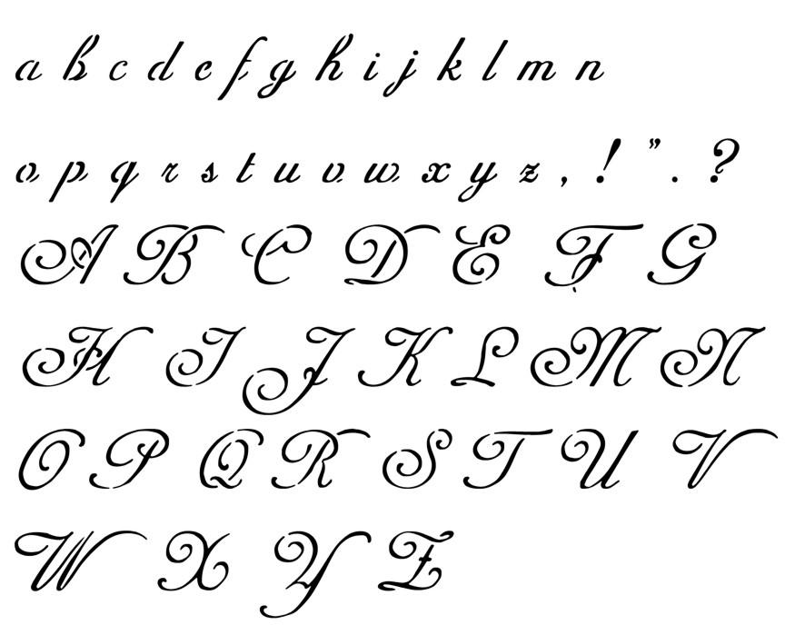 Alphabet adinekimberscript