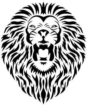 An702 tete de lion a peindre pochoir