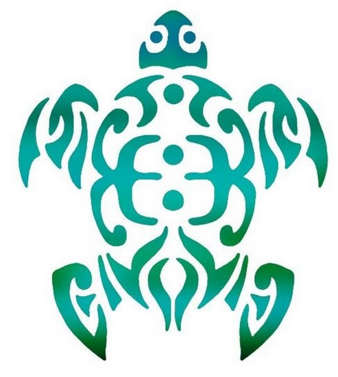 Anisp045 pochoir tortue marine 2 style pochoir