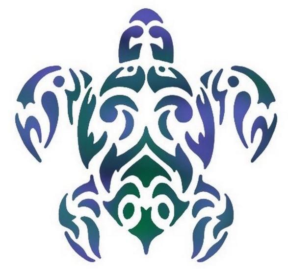 Anisp046 pochoir tortue marine 1 style pochoir