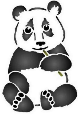 Anisp055 pochoir panda style pochoir