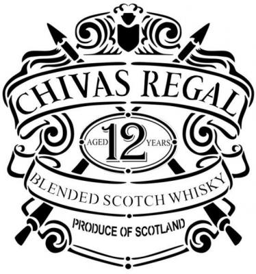 Ch2 logo chivas regal whisky pochoir a peindre