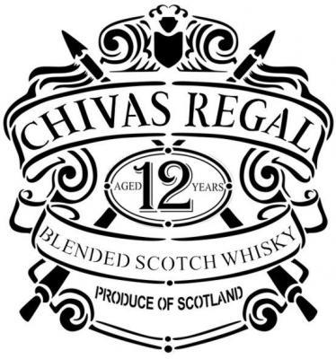 Ch2 logo chivas regal whisky pochoir a peindre