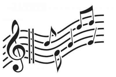 Cle de sol et portee de musique en pochoir ref mus5236