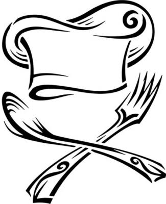 Cui10555 cuisinier fourchette cuillere pochoir pour cuisine