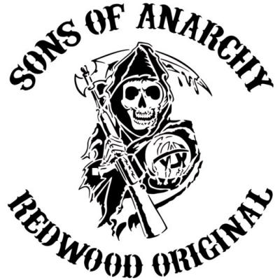 D4763 pochoir biker sons of anarchy harley davidson stencil motard