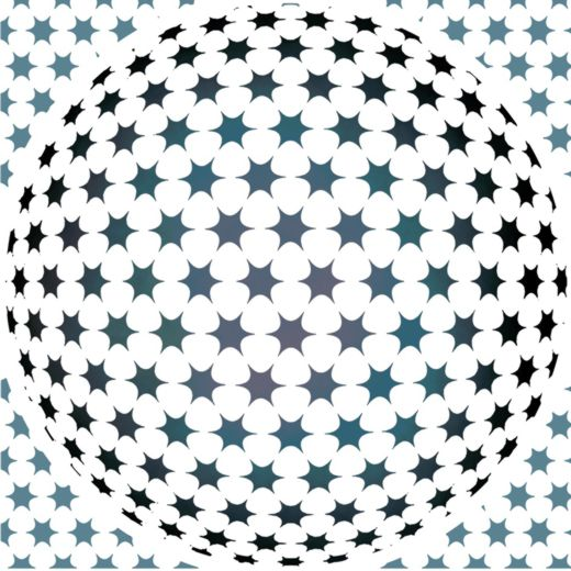 D5454 sphere etoiles pochoir a peindre psychedelique mon artisane style pochoir p