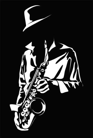 Div364001 musicien saxophone jazzman pochoir stylepochoir