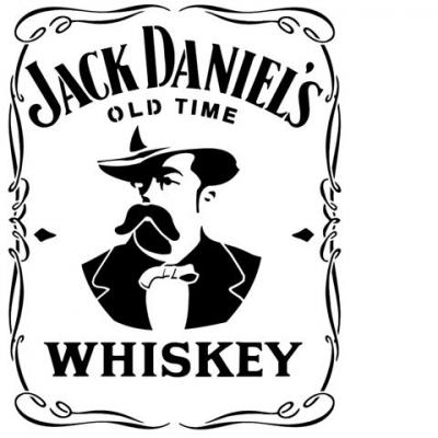 Div87235 pochoir jack daniels whiskey portrait style pochoir