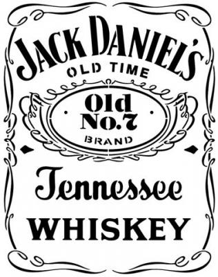 Div87236 pochoir jack daniels whiskey tennessee