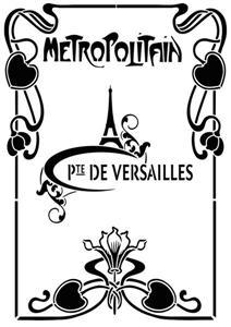 Div91125 metropolitain paris pochoir metro parisien a peindre style pochoir mon artisane