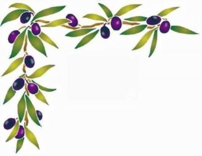 Fl0043 pochoir angle olives style pochoir
