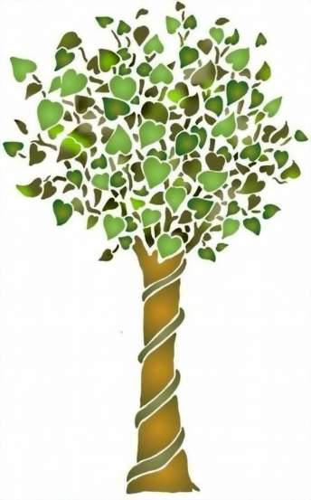 Fl178 pochoir arbre 1 style pochoir 1