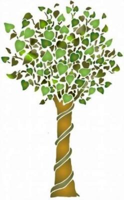 Fl178 pochoir arbre 1 style pochoir