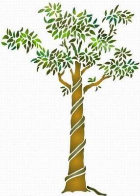Fl179 pochoir arbre 2 style pochoir