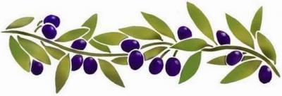 Fl18 pochoir frise olives style pochoir