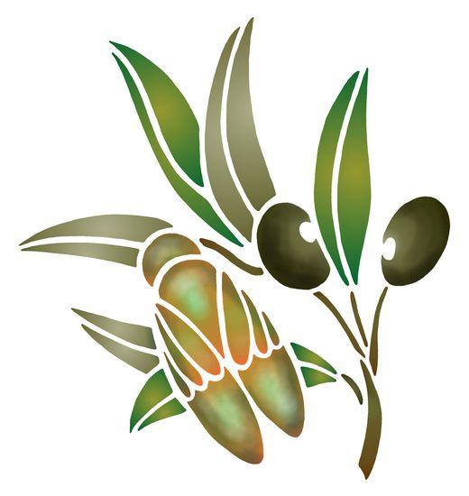 Flsp2136 pochoir cigale olives style pochoir 1