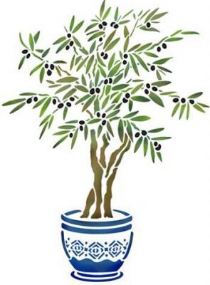 Flsp2907 pochoir olivier provence style pochoir 1