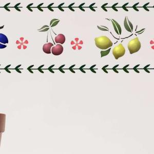 Frise de fruits murale pour cuisine