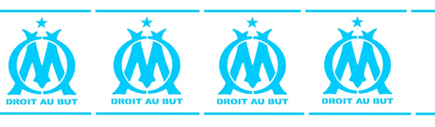 Pochoir frise de l 39 om olympique de marseille club de foot - Marseille logo foot ...