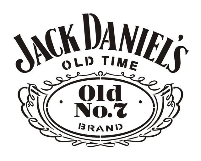 Jack daniels logo pochoir whisky