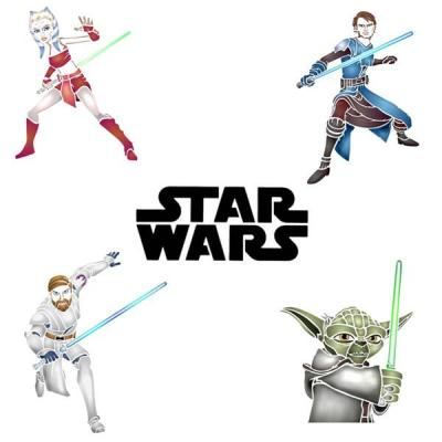 Kit de pochoirs star wars a peindre decoration murale style pochoir medium