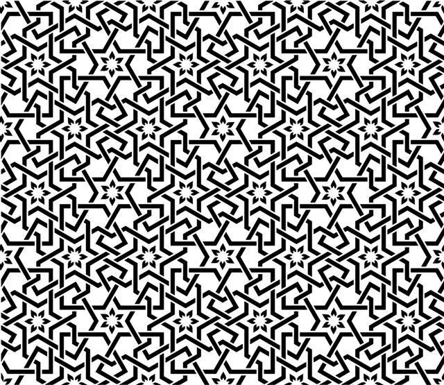 Ori489789 moucharabieh mosaique orientale 4 pochoir style pochoir