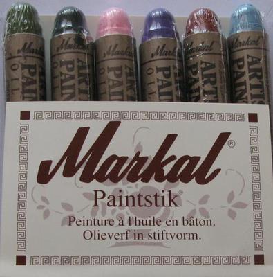 Bâton peinture à l/'huile solide Marron Sienne Brûlé Merkal Paintstick Pochoir