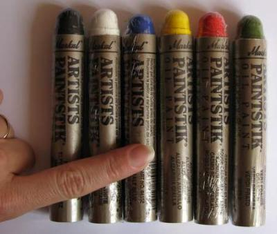 Pack peintures markal coulbase 6 couleurs pour pochoir