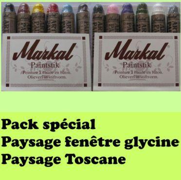 Pack promo 12 peintures solides markal fentre glycine tosacne