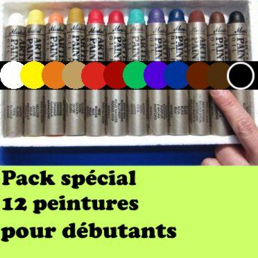 Pack promo 12 peintures solides markal student 12 couleurs