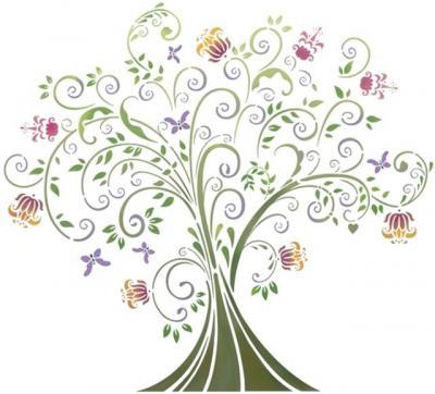Pochoir arbre du paradis fantastique stipo1031