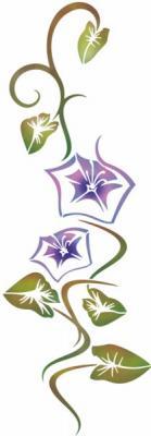 Pochoir fleurs violettes belles de jour stipo306 style pochoir