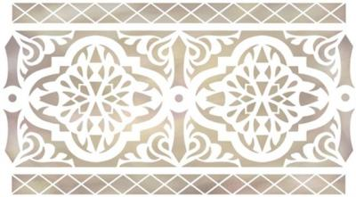 Pochoir frise orientale 89 ori4005 mon artisane style pochoir