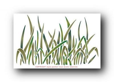 Pochoir hautes herbes spf076