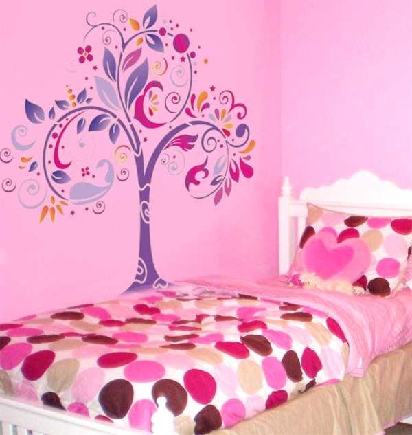 Pochoir Mural Geant Arbre Original Style Pochoir Pochoir Mural Arbre  Original Mur Chambre Fille Style Pochoir