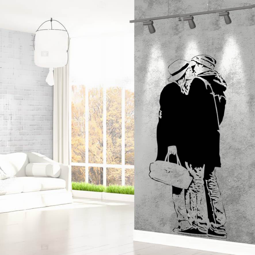 Pochoir mural moderne style pochoir facon street art
