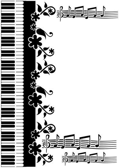 Pochoir musique piano et portee de musique mus 1004 stipo1163