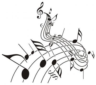 Pochoir notes musique portee cle de sol mus1006