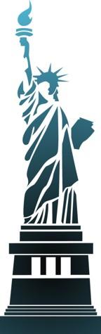 Pochoir statue de la liberte new york div1011 usa stencil