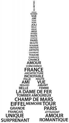 Pochoir tour eiffel paris lettrage mots francais paris stencil div408996 mon artisane