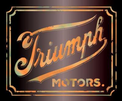 Pochoir triumph style vintage moto bikers effet use couleur style pochoir
