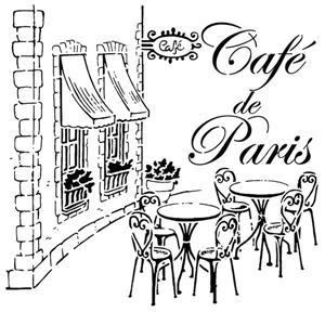 Pochoir vintage cafe de paris div64102