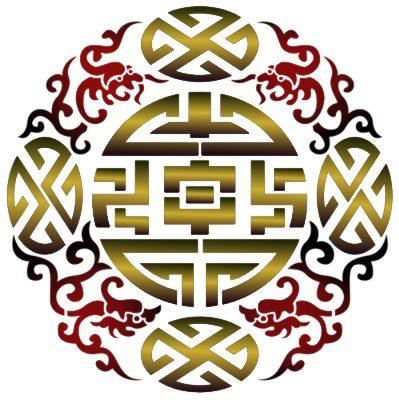 Sti414 rond cercle dragons chinois pochoir mon artisane style pochoir pc