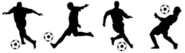 Stienfa216 4 footballeurs en pochoir frise murale a peindre