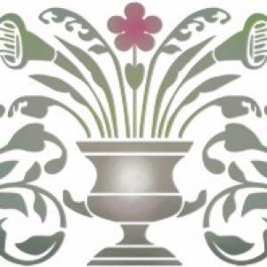 Stipo646 vasque fleurs baroques vase anduze style pochoir fabricant de pochoirs