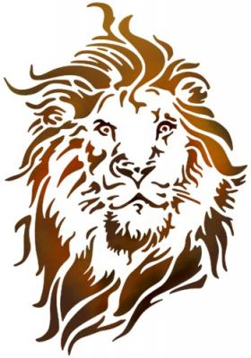 Tete de lion pochoir an78723 mon artisane style pochoir